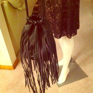 Handbags - Women purse cross body shoulder black leather 🔥